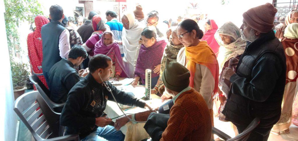 लगभग 280 मरीजों ने लिया नि:शुल्क स्वास्थ्य शिविर का लाभ